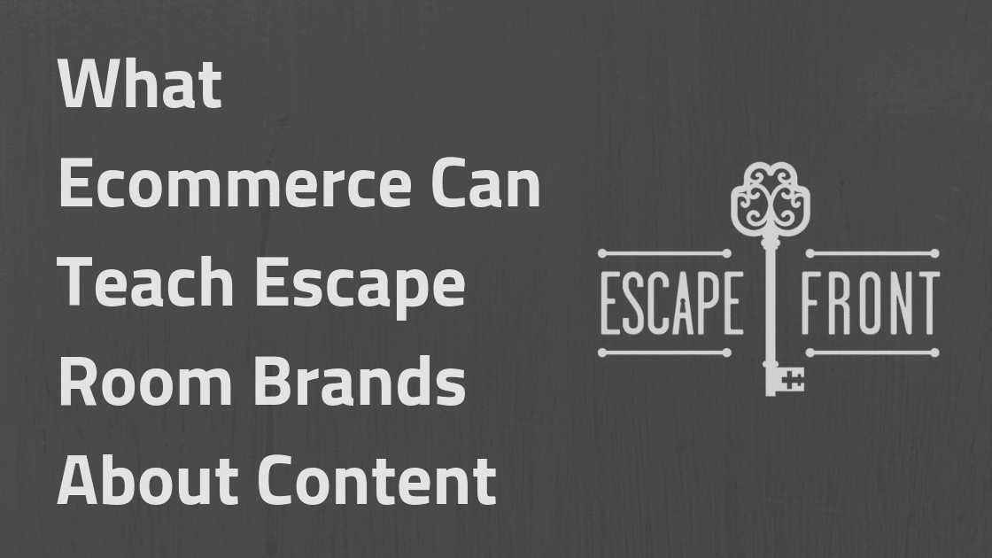 Escape Room ecommerce