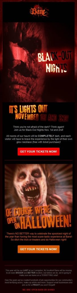 Bane Haunted House Newsletter
